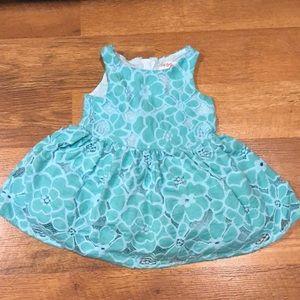 12m Cat & Jack Blue Flower Dress